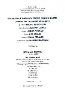 2006War Requiem - Parma 2006