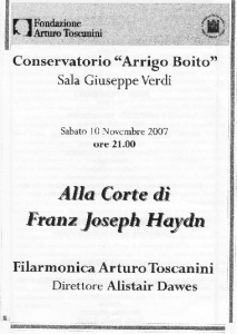 2007Orchestra Toscanini Concert