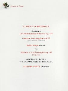 Cremona Concert Programme